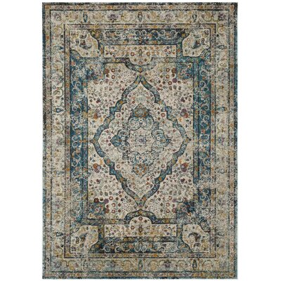Andy Cream Area Rug Rug Size: Rectangle 51 x 76