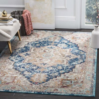 Andy Blue Area Rug Rug Size: Runner 2' x 8'