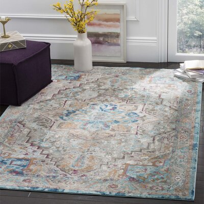 Andy Beige Area Rug Rug Size: 5'1