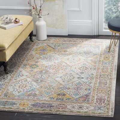 Andy Cream Indoor Area Rug Rug Size: Runner 2 x 8
