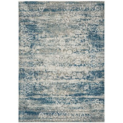 Andy Blue Area Rug Rug Size: Rectangle 4 x 6