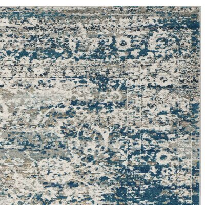 Andy Blue Area Rug Rug Size: Runner 2 X 12