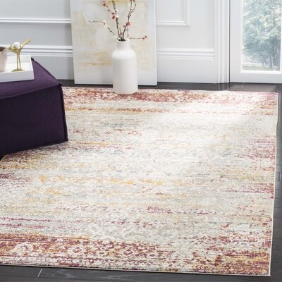 Andy Red Area Rug Rug Size: 51 x 76