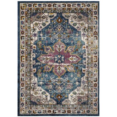 Andy Blue Indoor Area Rug Rug Size: 4 x 6
