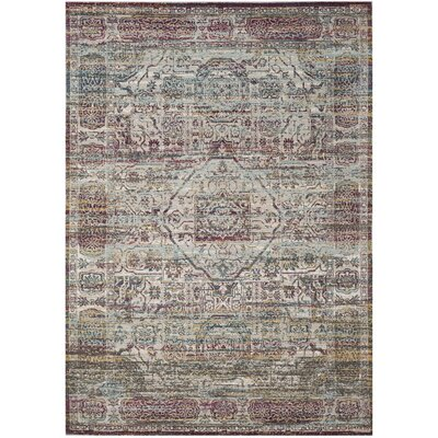 Andy Red Area Rug Rug Size: Rectangle 51 x 76