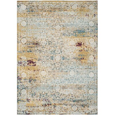 Andy Yellow Area Rug Rug Size: Rectangle 51 x 76