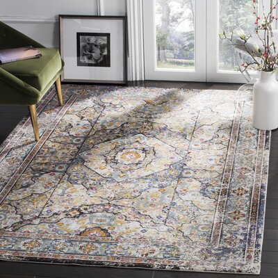 Andy Blue Area Rug Rug Size: 51 x 76