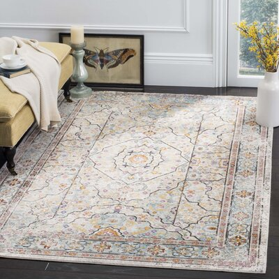 Andy Cream Area Rug Rug Size: 51 x 76