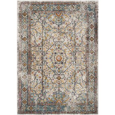 Andy Cream Area Rug Rug Size: Rectangle 5'1