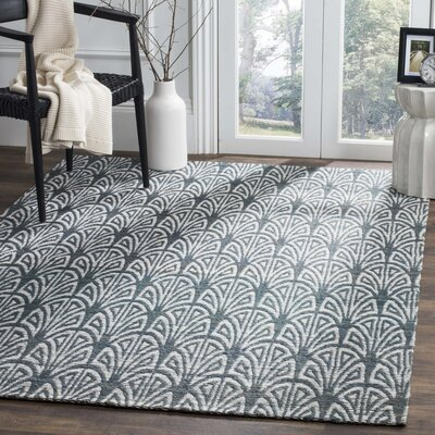 Abia Hand-Woven Slate Area Rug Rug Size: Rectangle 4 x 6