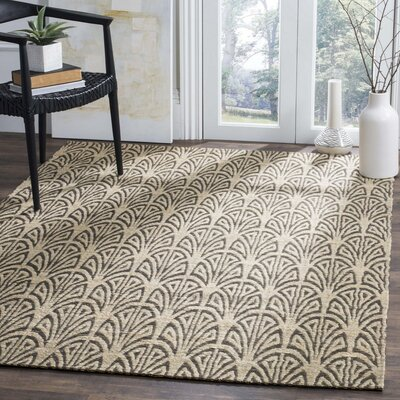 Abia Hand-Woven Light Beige Area Rug Rug Size: Rectangle 3 x 5
