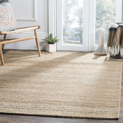 Abia Hand-Woven Brown Area Rug Rug Size: Rectangle 6 x 9