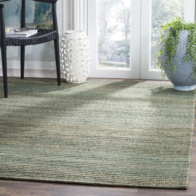 Abia Hand-Woven Sage Area Rug Rug Size: Rectangle 3 x 5