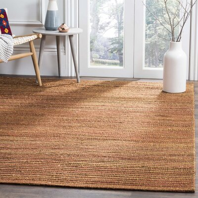 Abia Hand-Woven Rust Area Rug Rug Size: Rectangle 4 x 6