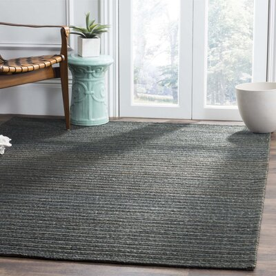 Abia Hand-Woven Dark Green Area Rug Rug Size: Square 6