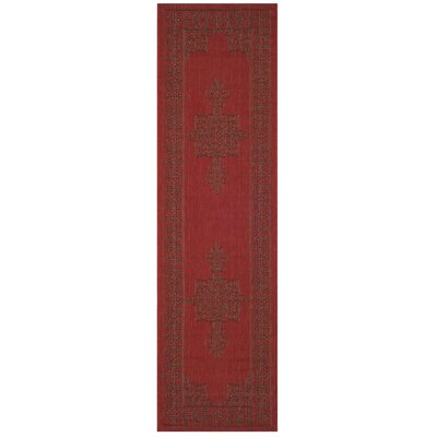 Amedee Red Indoor/Ourdoor Area Rug Rug Size: Runner 24 x 12