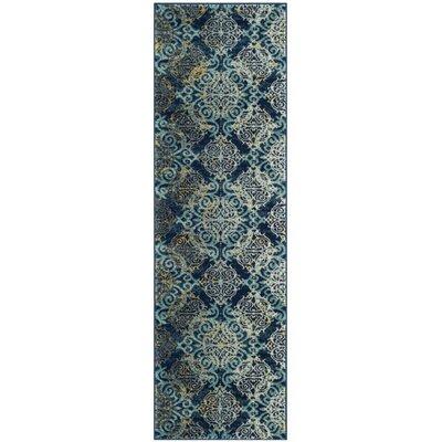 Ameesha Blue/Gray Area Rug Rug Size: Runner 22 x 7