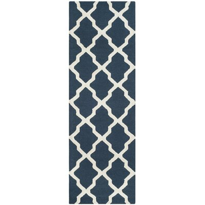 Parker Lane Hand Tufted Navy Area Rug Rug Size: Runner 26 x 8