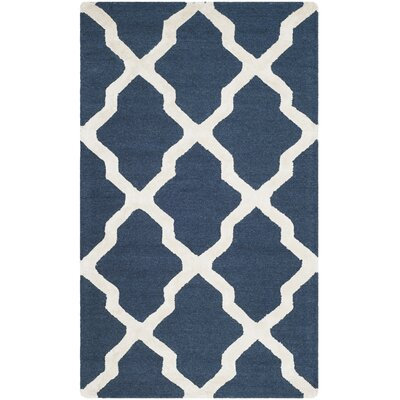 Parker Lane Hand Tufted Navy Area Rug Rug Size: 3 x 5