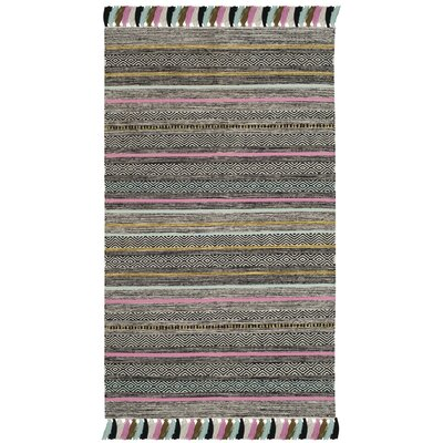 Trenton Hand-Woven Cotton Black Area Rug Rug Size: Rectangle 3 x 5