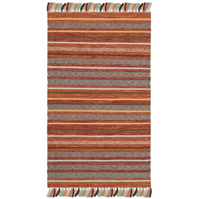 Trenton Hand-Woven Cotton Rust Area Rug Rug Size: Rectangle 3 x 5
