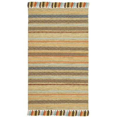 Trenton Hand-Woven Cotton Beige Area Rug Rug Size: Rectangle 3 x 5