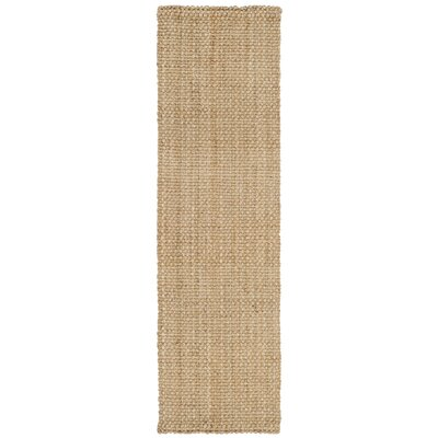 Addilyn Hand-Woven Natural Area Rug Rug Size: Runner 23 x 8