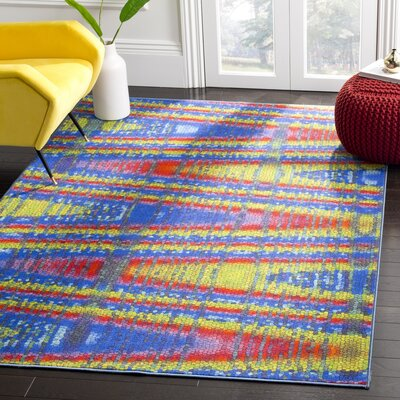 Zavala Blue Area Rug Rug Size: 8 x 10