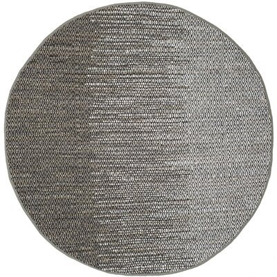 Erik Hand-Woven Light Gray Area Rug Rug Size: Round 4