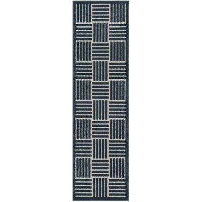 Zaniyah Blue Indoor/Outdoor Area Rug Rug Size: Runner 2'3