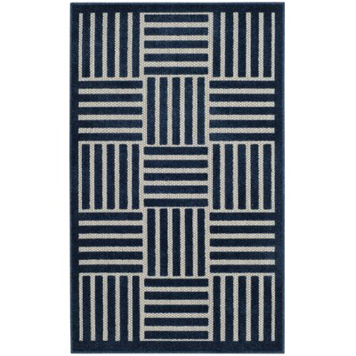 Zaniyah Blue Indoor/Outdoor Area Rug Rug Size: Rectangle 33 x 53