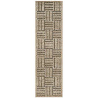 Zaniyah Gray Indoor/Outdoor Area Rug Rug Size: 3'3