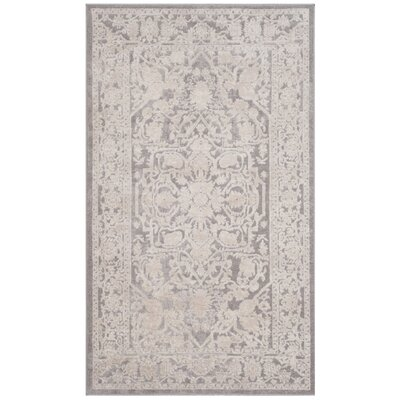 Pellot Light Gray Area Rug Rug Size: Rectangle 4 x 6