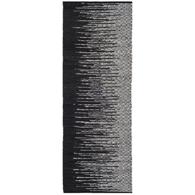 Erik Hand-Woven Light Grey/Black Area Rug Rug Size: Rectangle 2'3