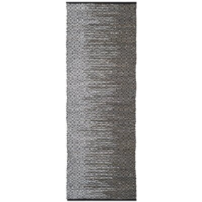 Erik Hand-Woven Light Grey/Grey Area Rug Rug Size: Runner 23 x 9