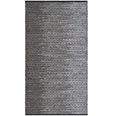 Erik Hand-Woven Light Gray Area Rug Rug Size: 3 x 5