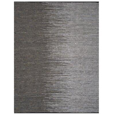 Erik Hand-Woven Light Gray Area Rug Rug Size: 4 x 6
