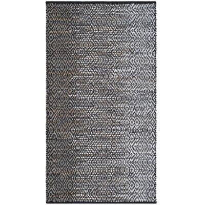 Erik Hand-Woven Light Gray Area Rug Rug Size: 2 x 3