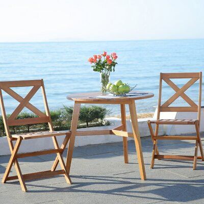 Holtz 3 Piece Bistro Set