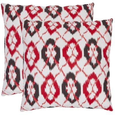 Drew Cotton Throw Pillow Size: 18