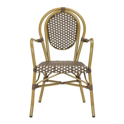 Mistana Shyann French Stacking Patio Dining Chair