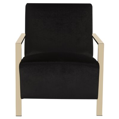 Askham Arm Chair Upholstery: Black