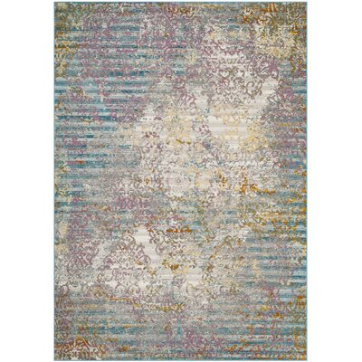 Andy Fuchsia/Ivory Area Rug Rug Size: Rectangle 51 x 76