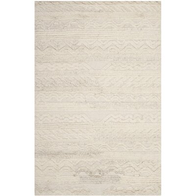 Piya Knotted Cotton Ivory Area Rug Rug Size: Rectangle 2 x 3