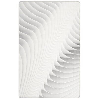 Cahoon Abstract Ivory Area Rug Rug Size: 51 x 76