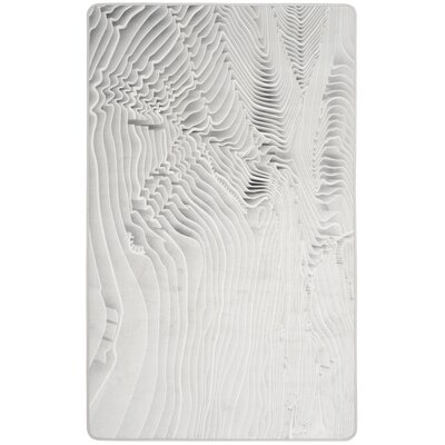 Cahoon Power Loomed Ivory Area Rug Rug Size: 51 x 76