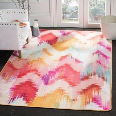 Janiyah Ikat Pink Area Rug Rug Size: Rectangle 3 x 5