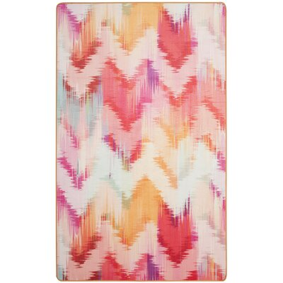 Janiyah Ikat Pink Area Rug Rug Size: Rectangle 4 x 6
