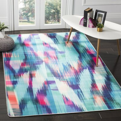 Ellesmere Turquoise Area Rug Rug Size: Rectangle 51 x 76