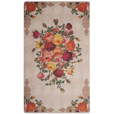 Janiyah Ivory Area Rug Rug Size: Rectangle 51 x 76